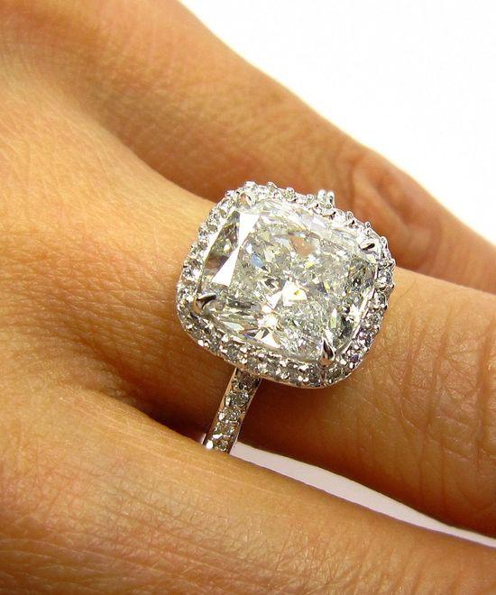 5.07ct Estate CUSHION Diamond by TreasurlybyDima, $19,950.00