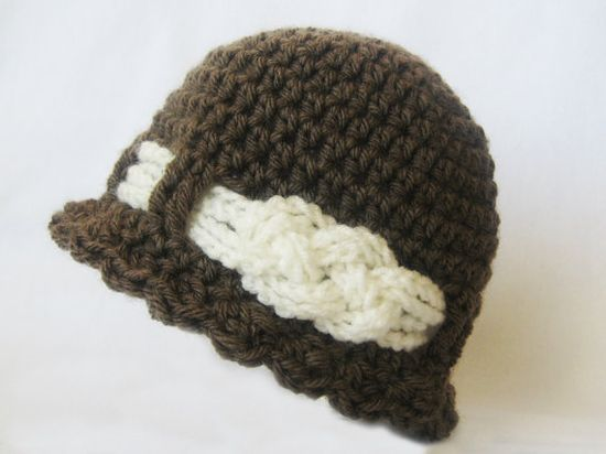 CROCHET PATTERN Knotted Beanie (6 sizes included: newborn-adult)