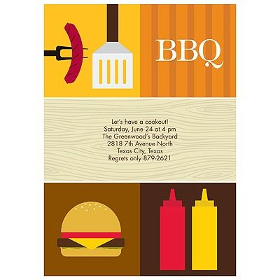 ALL THINGS BBQ -- BBQ PARTY INVITATIONS