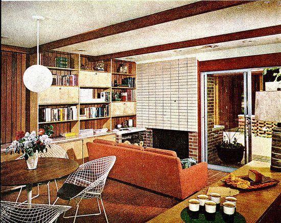 Mid-century Family room