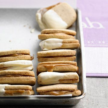 We love these tasty Caramel Sandwich Cookies. Get the recipe here: www.bhg.com/...