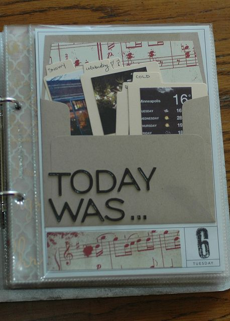 today was...like the idea of a pocket filled with info about a particular day