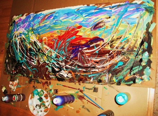 after some longboarding ;) #art #paintings #painting #paint #gifts #gift #colorful #handmade #epic #wow #awesome #creative #new #abstract #waves #sunset #longboard