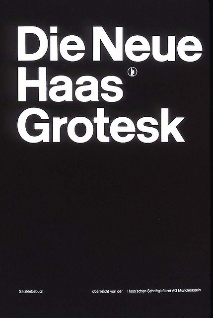 Swiss Graphic Design —   Cover Haas'che Schriftgiessersi AG typeface pattern book designed by Müller-Brockmann 1962.