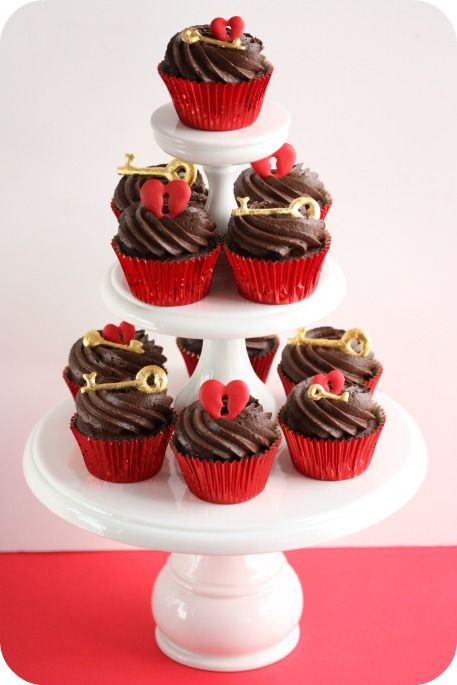 key to your heart cupcake toppers