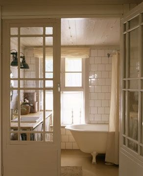 white, tiled #bathroom decorating before and after