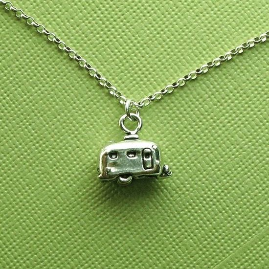 Vintage trailer necklace