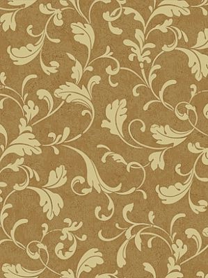York Wallpaper Tuscan Leaf Scroll $24.50 per roll #interiors #decor #yorkwallpaper #leafywallpaper