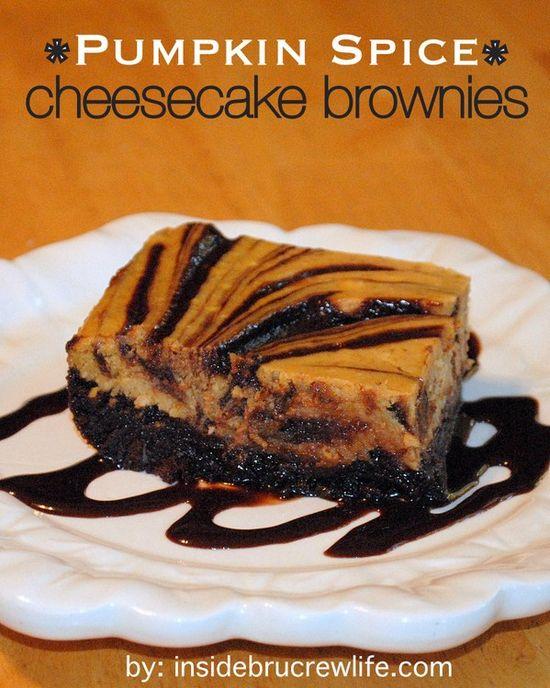 Pumpkin Chocolate Chip Cookies and Pumpkin Spice Cheesecake Brownies