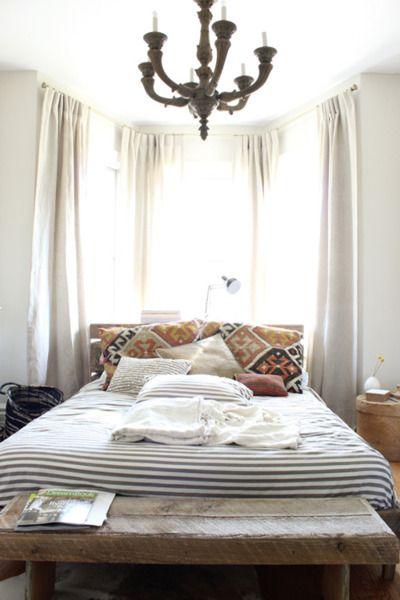 chandelier in the bedroom