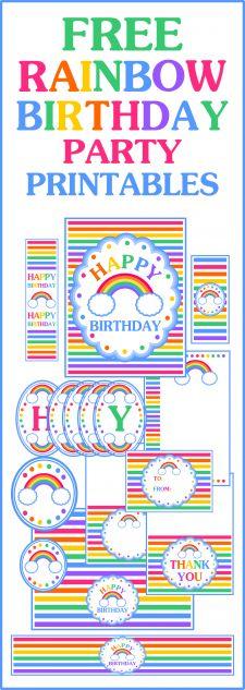 Free Rainbow Birthday Party Printables at Printabelle