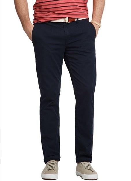 men's slim straight pants
