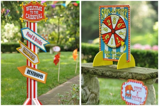 Circus or Carnival Party Signs
