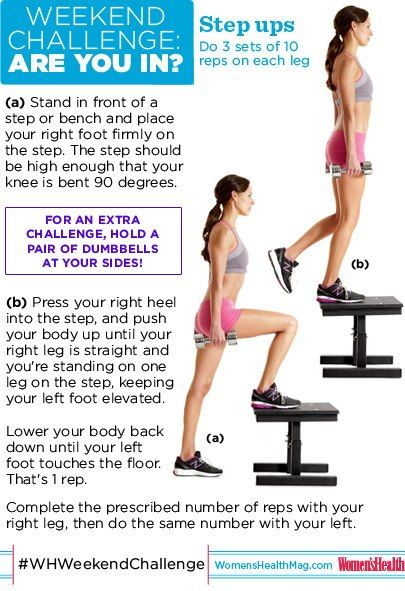 #WHWeekendChallenge : Step Ups! One of the best exercises for your body is also the simplest! How many reps you can do while maintaining proper form? Add in a pair of weights to STEP UP (pun intended) your game. SO...ARE YOU IN?