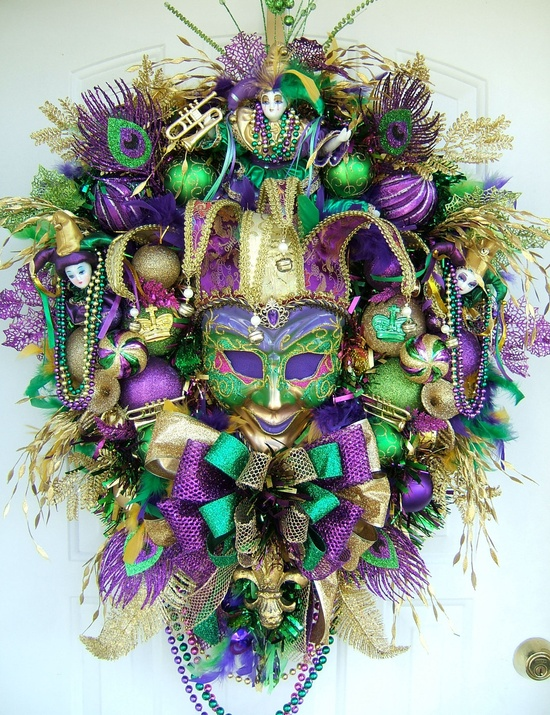 Gorgeous Mardi Gras Wreath