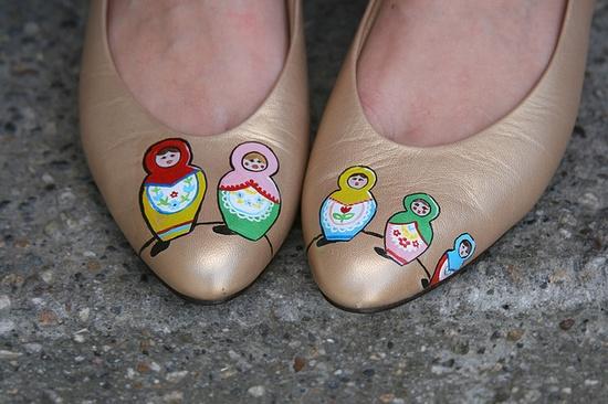 Matryoshka doll shoes
