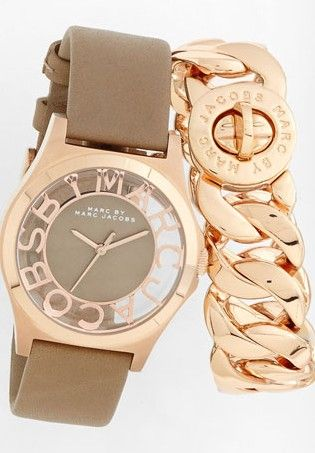 Marc by Marc Jacobs Henry Skeleton Watch & Katie Link Bracelet