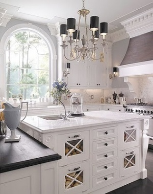Dream Kitchens by Peachgirl - love the large tilt outs in the island