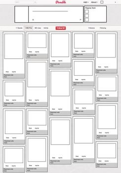 "Print off this blank ""Pinterest"" board and have your students fill it in with images and quotes from classroom units...ex. career/ college ideas; favorite foods; cooking tips/techniques; etc."