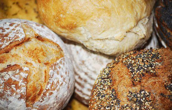 Freshly baked handmade bread