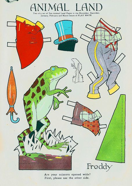 Vintage Paper Doll, Frog by shelece, via Flickr