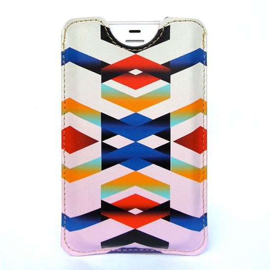 Leather iPhone 4 case / iPhone 4S Case - Chevron Navajo inspired design  rover.ebay.com/...