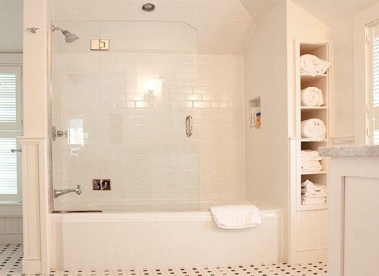 bathtub sunken into floor
