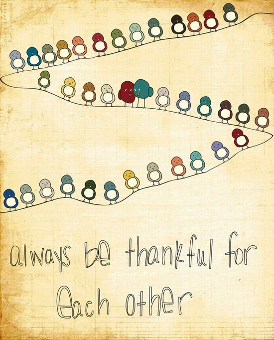 always be thankful...