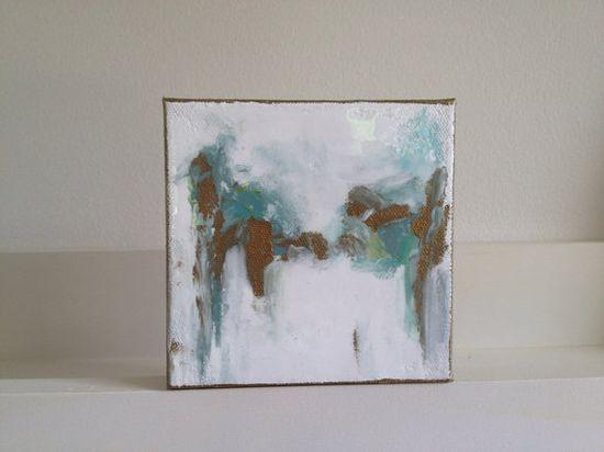 5x5 Blue/Green Abstract II