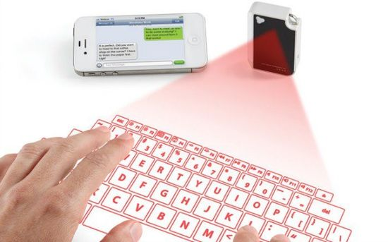 This Pocket-Sized Virtual Keyboard Projects Onto Any Surface