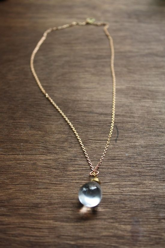 Crystal Ball Drop Necklace