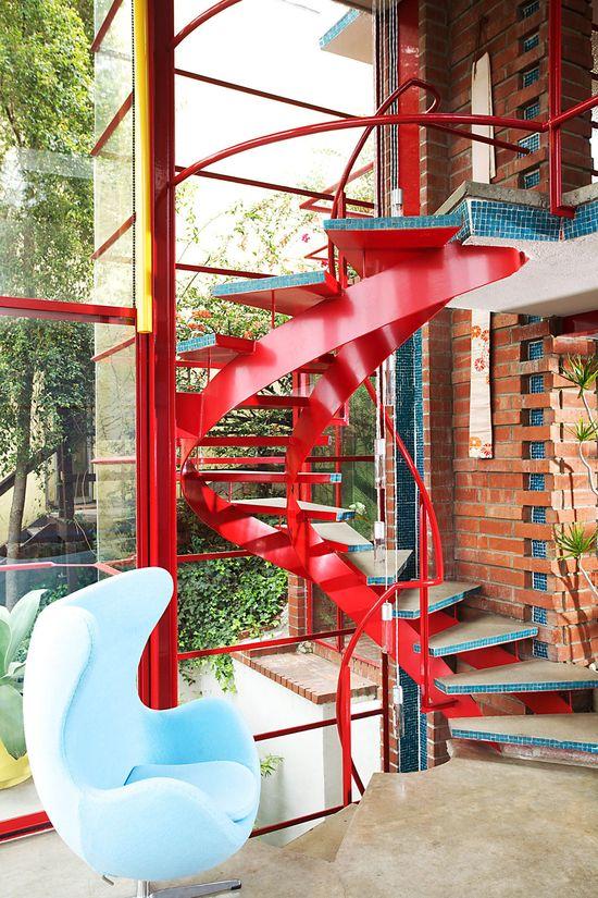 Staircase Interior of The Allyn Morris Studio