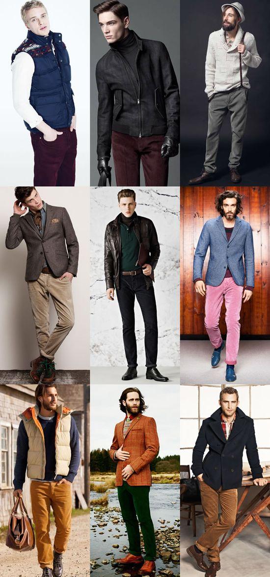 Fashion, Men's Corduroy Trousers Lookbook