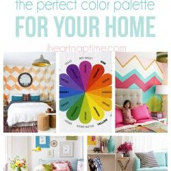 Need some guidance in picking your home's color scheme? Check out this post on how to choose the perfect color palette for your home on iheartnaptime.com