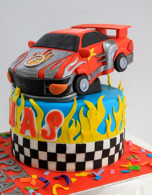 Celebrate with Cake!: Flash and Dash Racing Car Cake