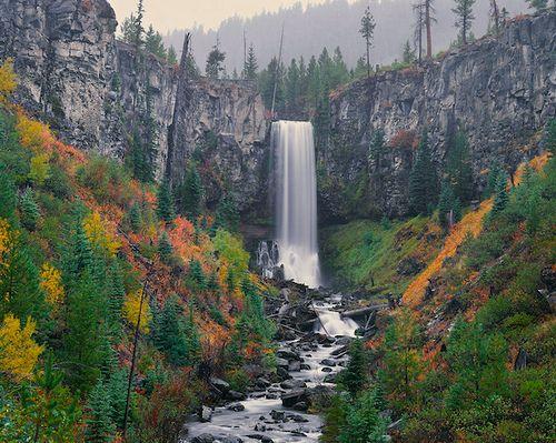 Tumalo Falls in Autumn