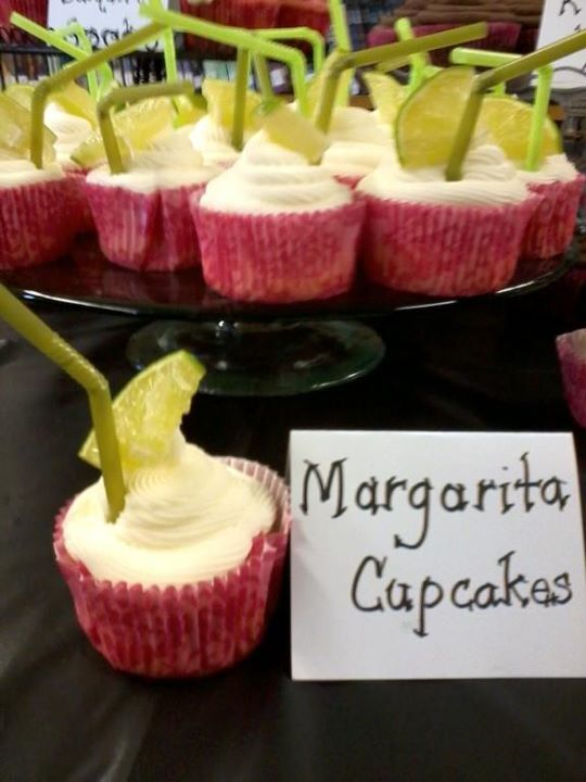Love me a Margarita! You can find the recipe at: boozybakeshop.com...