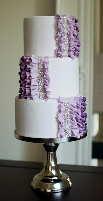Ombre ruffle purple #cake