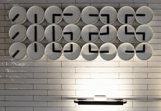 Cool Clock arrangement: jamie mitchell staat modern hotel interiors design