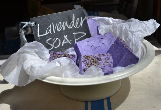 LAVENDER SOAP with French style cotton bag.
