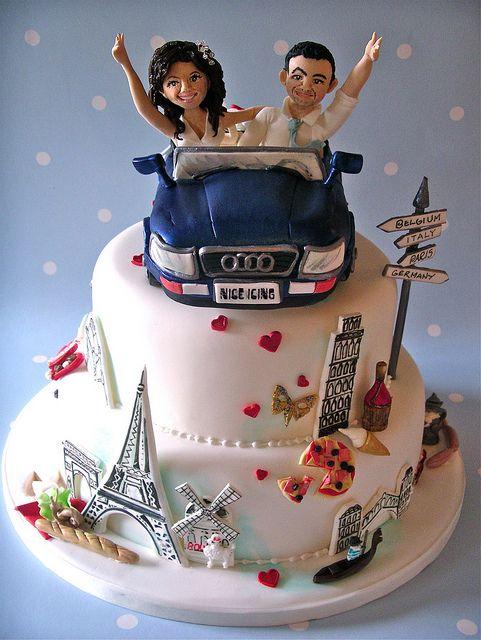 Grand Tour Wedding Cake