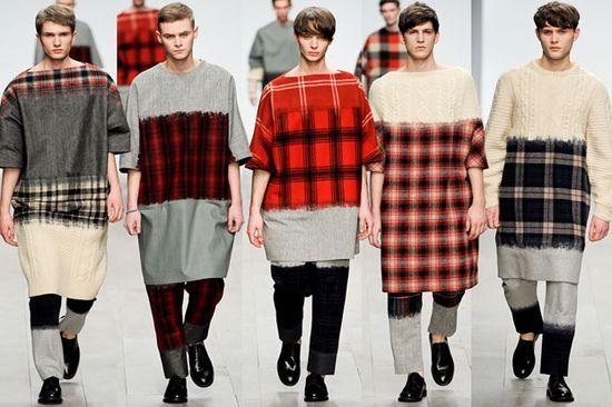 shaun samson at London men's fashion week