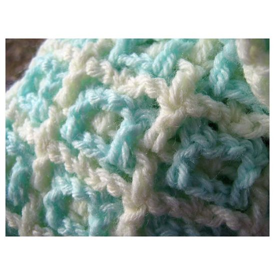 "Icy MINT - Crocheted ""Windows"", $75"