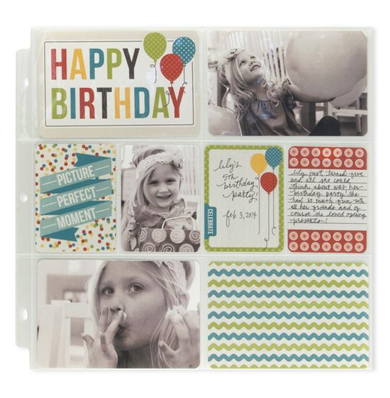 #papercraft #scrapbook #layout  Happy Birthday featuring the Thumb Notch Punch from We R - Scrapbook.com