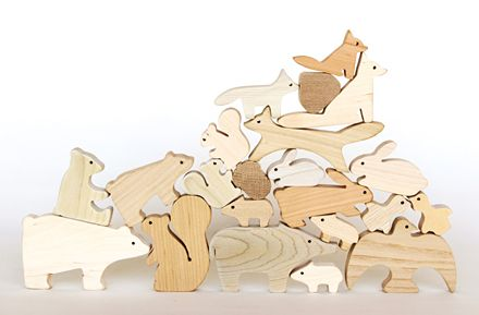 Wooden toy animals