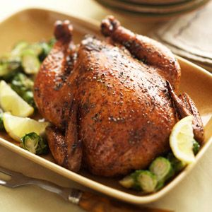 Roasted chicken tastes better if something flavorful, such as an herb, is placed under its skin. The rub used in this recipe contributes a ton of flavor while working like a marinade.