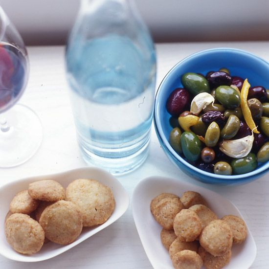 Warm Olives with Rosemary, Garlic and Lemon // More Fast Hors d'Oeuvres: www.foodandwine.c... #foodandwine