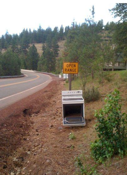 Literal road signs...