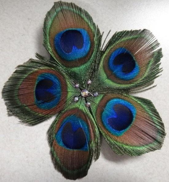 Peacock Feather Hair Accessory