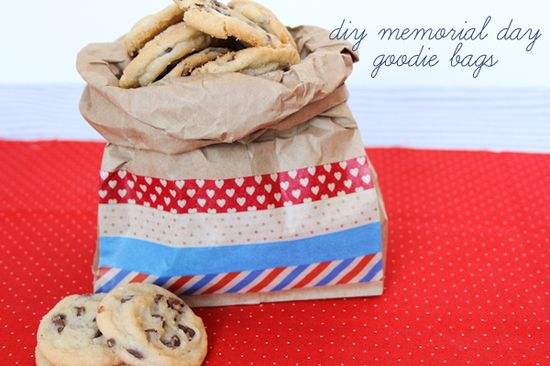 The Sweetest Occasion - Washi tape over brown paper bags